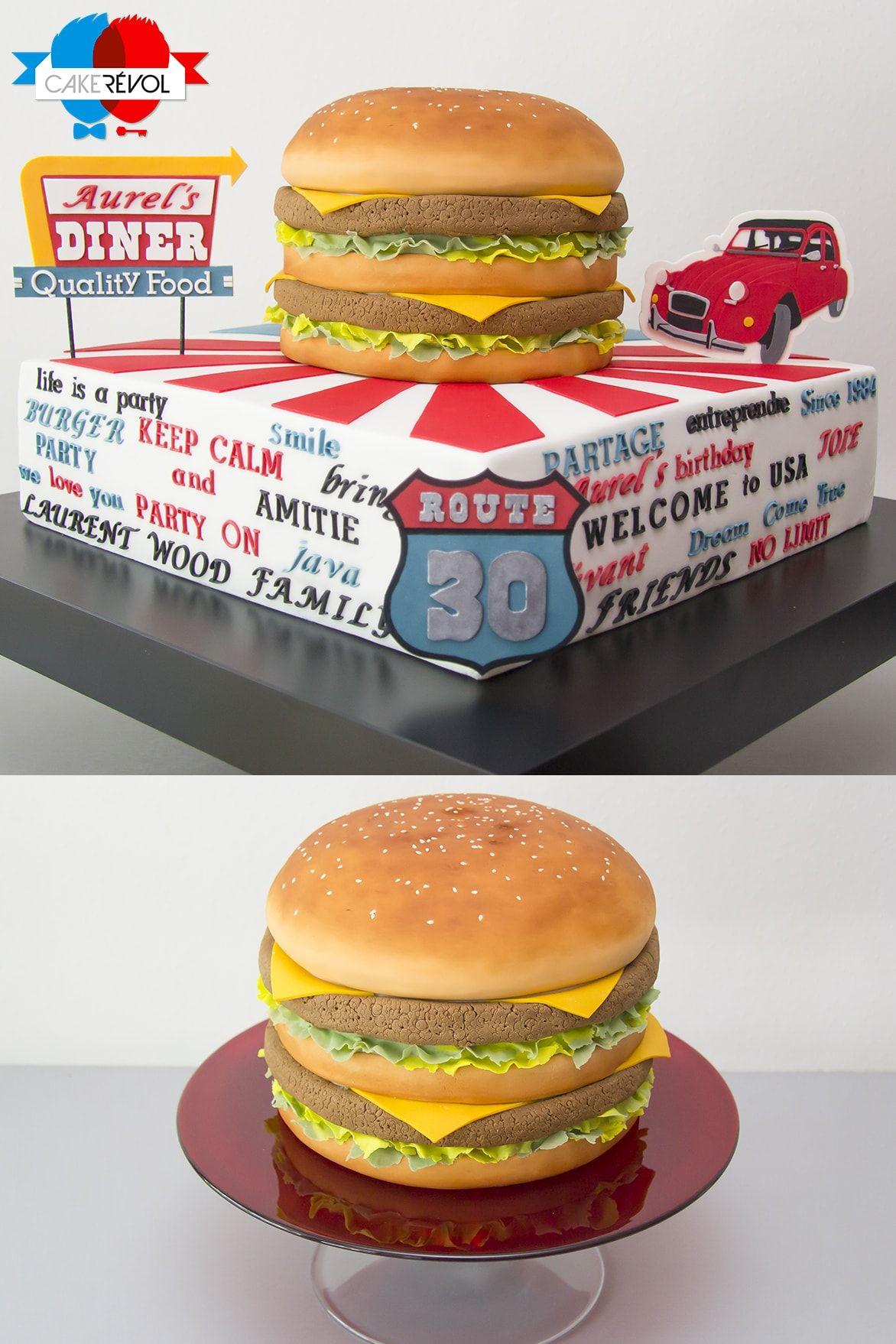 NOS CRÉATIONS - American Burger - CAKE RÉVOL - Cake Design - Nantes