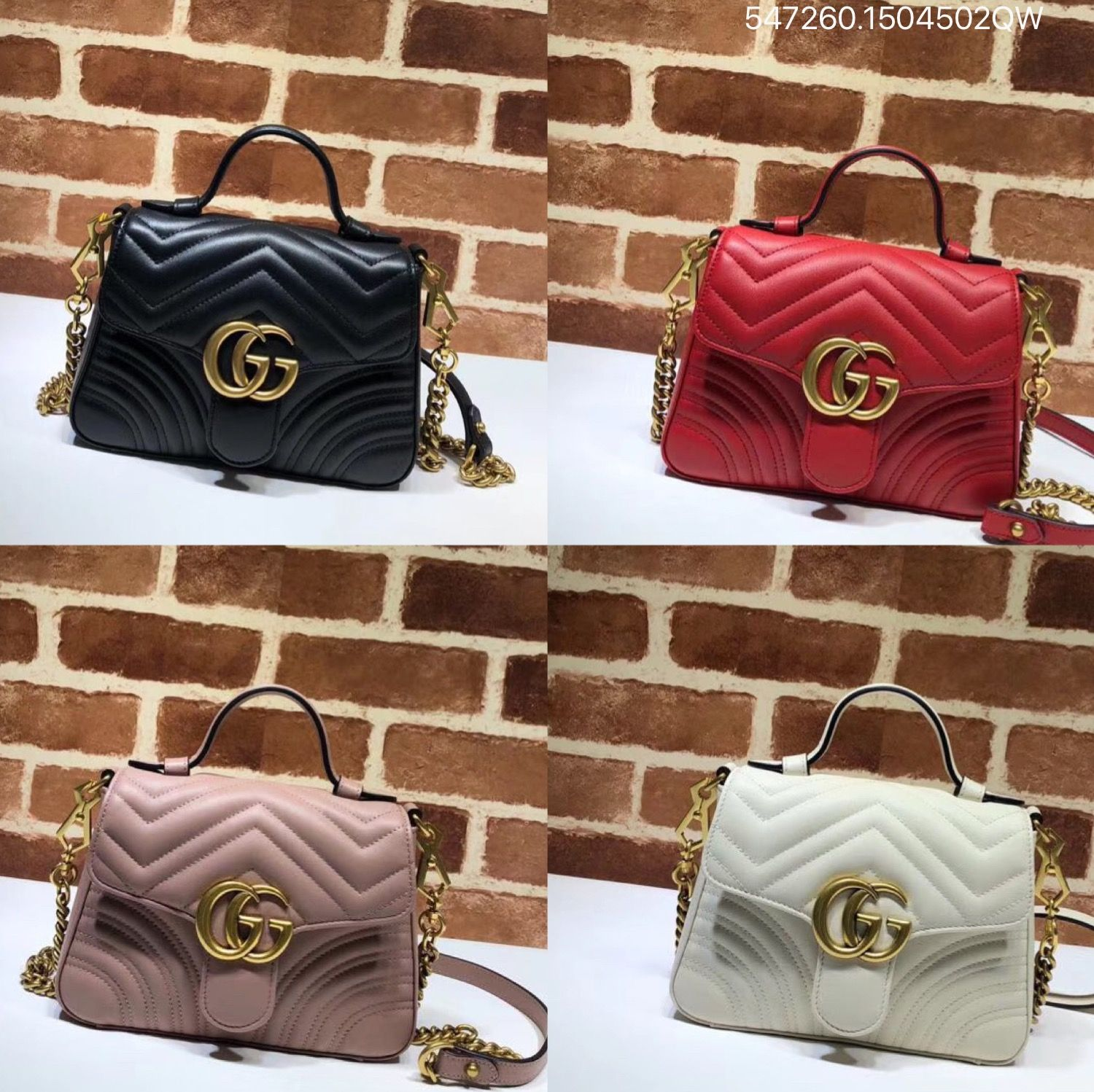 6d868427db8 Gucci GG marmont mini top handle bag with chain shoulder 547260 ...
