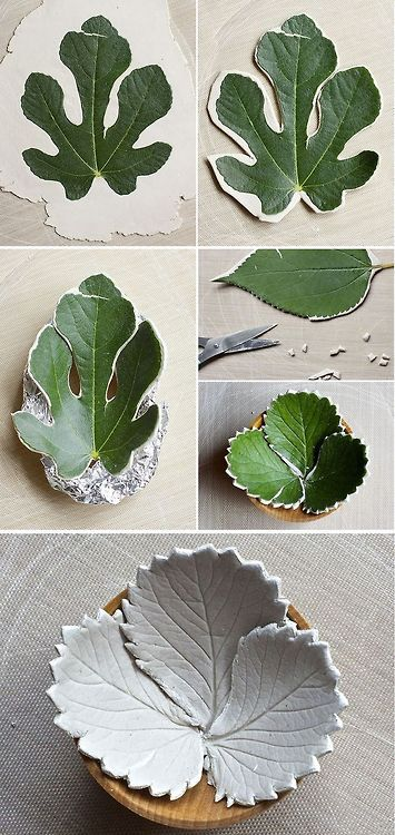 Leaf bowls from air dry clay do it yourself pinterest leaf leaf bowls from air dry clay solutioingenieria Choice Image