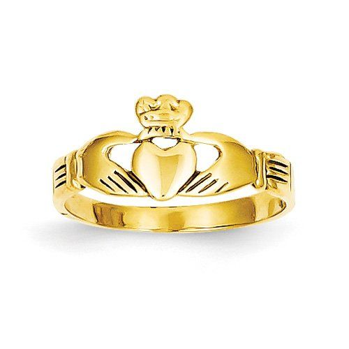 14k Yellow Gold Baby Claddagh Ring. Metal Wt- 1.16g Has :               (1)       Good Reviews From Customers. Check All Reviews, Details, Features, and How To Get it with Best Price/Discount Here:   http://short.shopingzon.com/GsB20