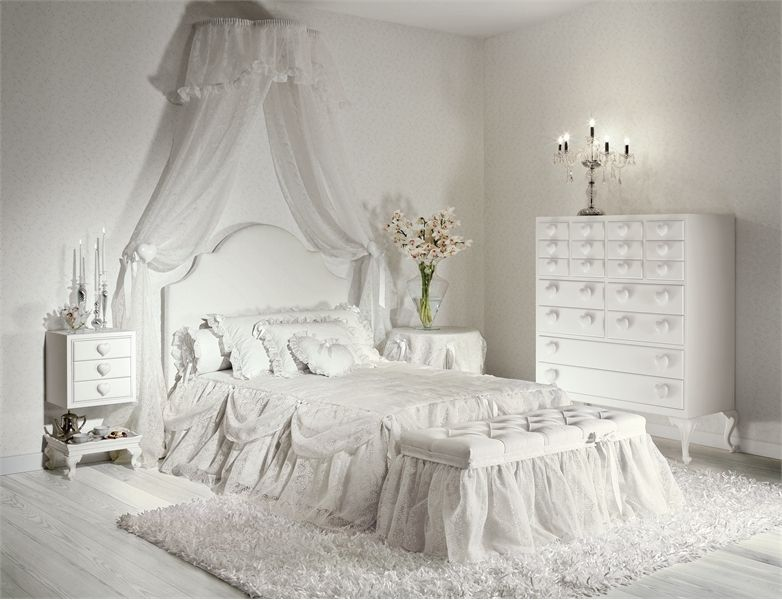 White Bedroom Furniture For Girls charming girls bedrooms with hearts theme batticuorehalley