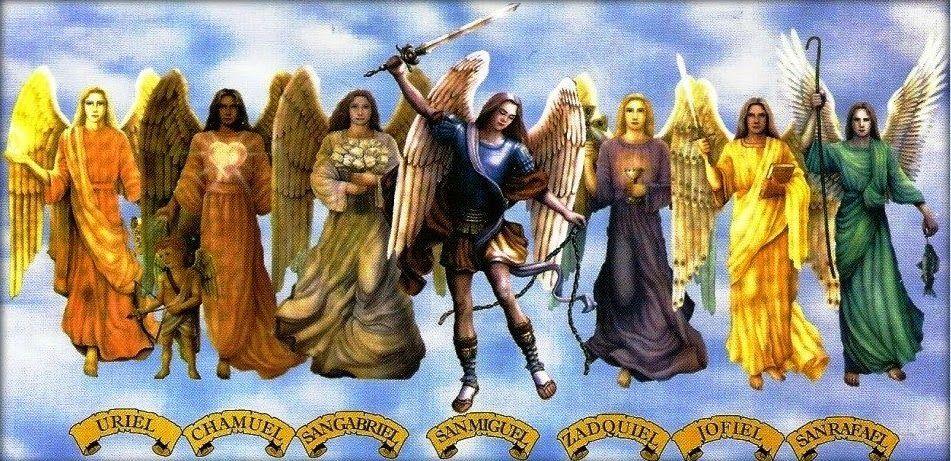 Por Agesta Recopilados Por Www Oasibeth Com Planeta Oasibeth Para Que Sea Más Fácil La Búsq Los Siete Arcangeles Arcangeles De Dios 7 Arcangeles
