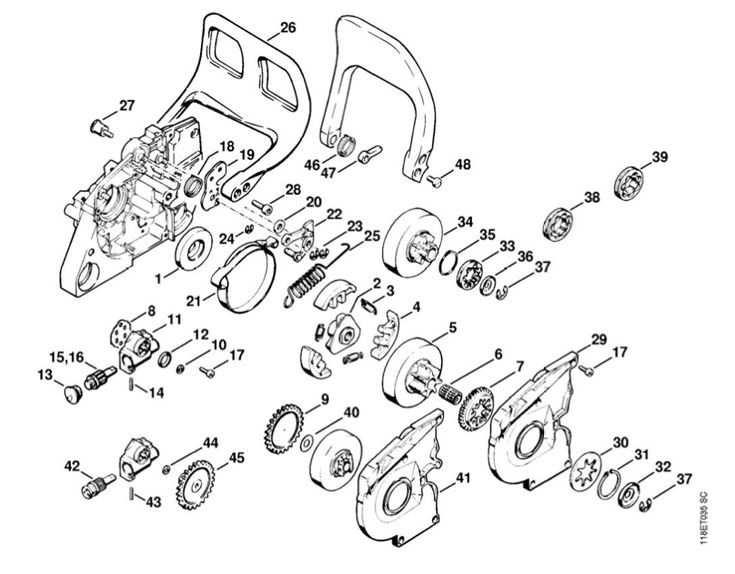 Stihl 066 Crankcase Parts Diagram