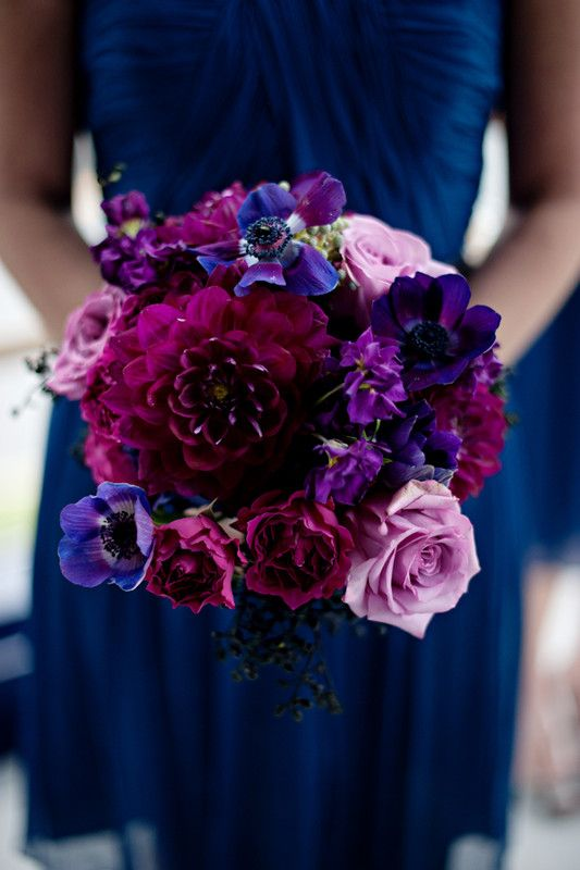 We love this bold and rich color scheme! Follow @WeddingWire for ...