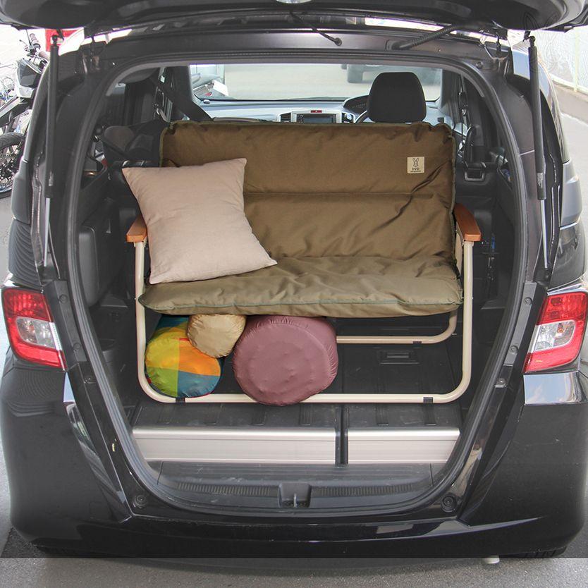 キャンプで机や椅子になり 車の中では棚になる グッドラック シリーズ キャンプ 収納 アイデア アウトドア