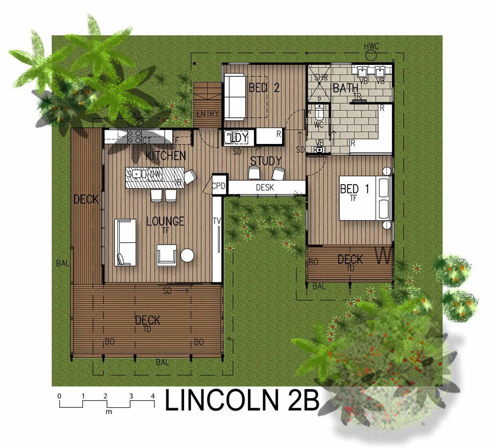 This Modern Tropical Home is a Granny Flat for a Hip Elderly Couple on house designs for retirement, house plans with separate garages, house designs for handicapped, house designs for home, house plans for elderly,