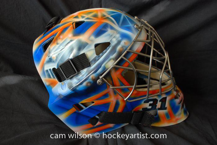 69bb402174b Oil Derrick Ghost Buster Theme Goalie Mask - Airbrushing by Cam Wilson  www.hockeyartist.com