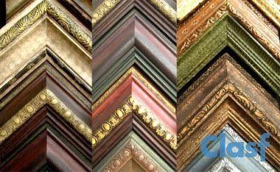 Molduras de madera para cuadros clasicos marcos para - Molduras de madera para pared ...
