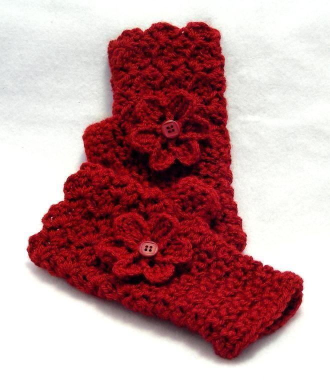 Moderno Mitones Patrón De Crochet Libre Foto - Ideas de Patrones de ...