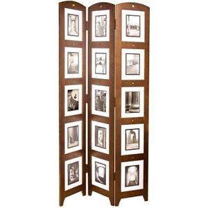 Photo Frame Room Divider 3 Folding Panel Family Memories Holder
