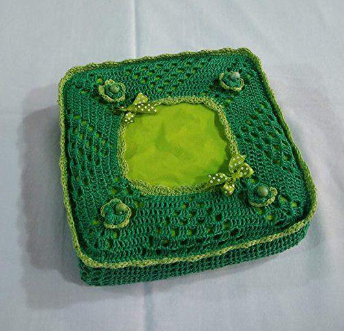 Cucina Uncinetto Portatovaglioli Verde Amazonit Handmade Idee