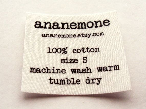 100 Labels Printed /& Personalised Fray Resistant Wash Care Labels Pack