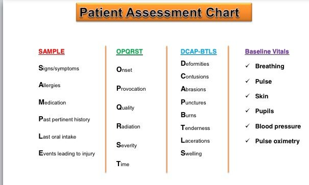 Opqrst And Others Ems Patient Assessment  Nursing