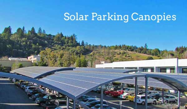 Solar Panels Over Parking Lots