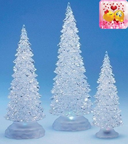 3-Piece Icy Crystal Battery Operated Lighted LED Color Changing