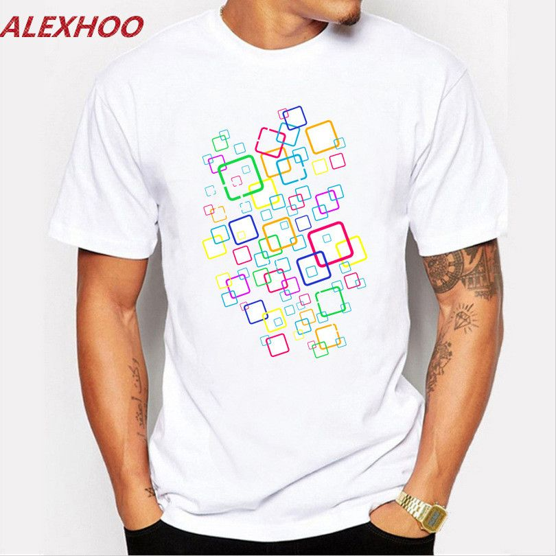 2017 Hot Sale Fashion O-neck cool Mne's Creative Printed funny T ...