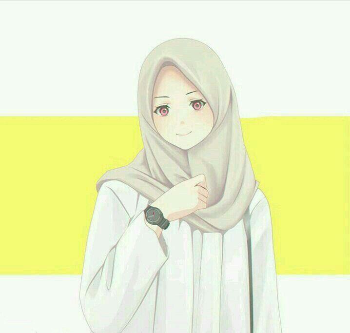 Gambar Kartun Wanita Muslimah Tersenyum Selalu Tersenyum Ilustrasi Karakter Kartun Komik Romantis