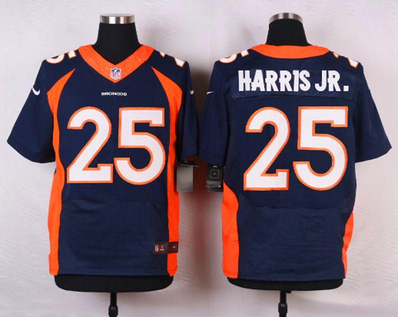 96ec8fd7f64 NFL Customize Denver Broncos 25 Harris JR.Blue Men Nike Elite Jerseys