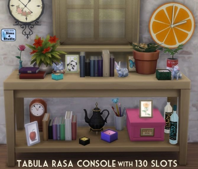 Tabula Rasa console with 130 slots at Sims 4 Studio • Sims 4