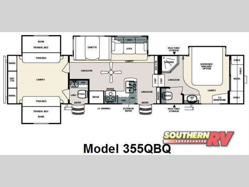 Used 2010 Forest River Rv Sandpiper 355qbq Fifth Wheel At Southern