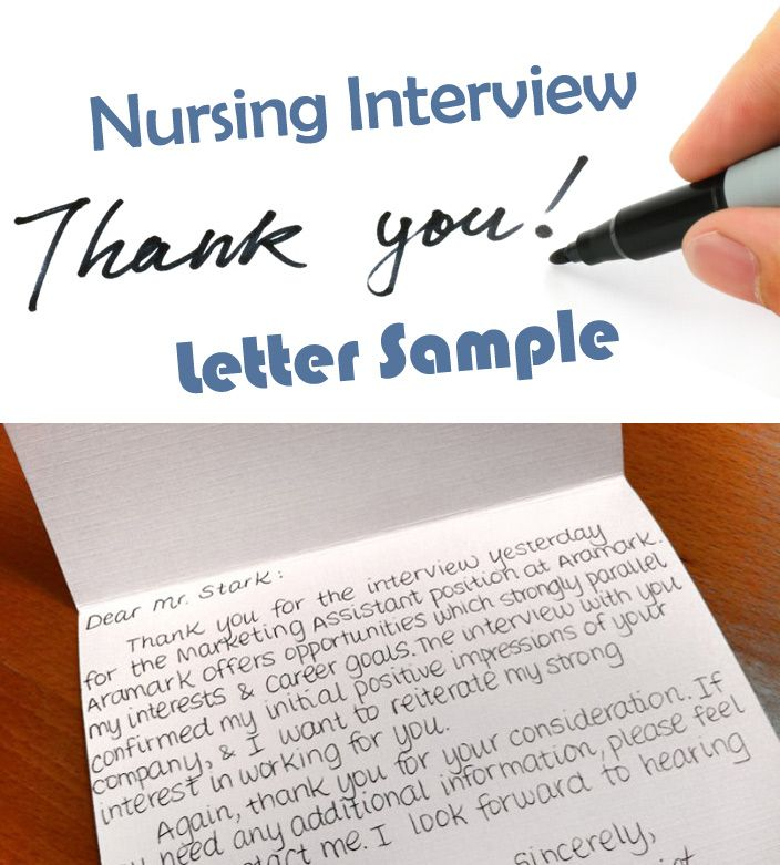 Nursing Interview Thank You Letter Sample (How to Write Guide