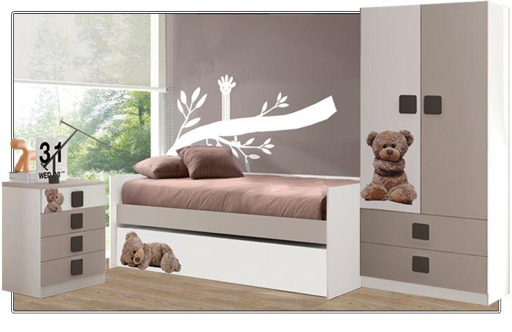 """Un lugar perfecto para """"hacerse mayor"""" ¿Os gusta este #dormitorio para los peques de la casa? http://ow.ly/zPd1Q"""