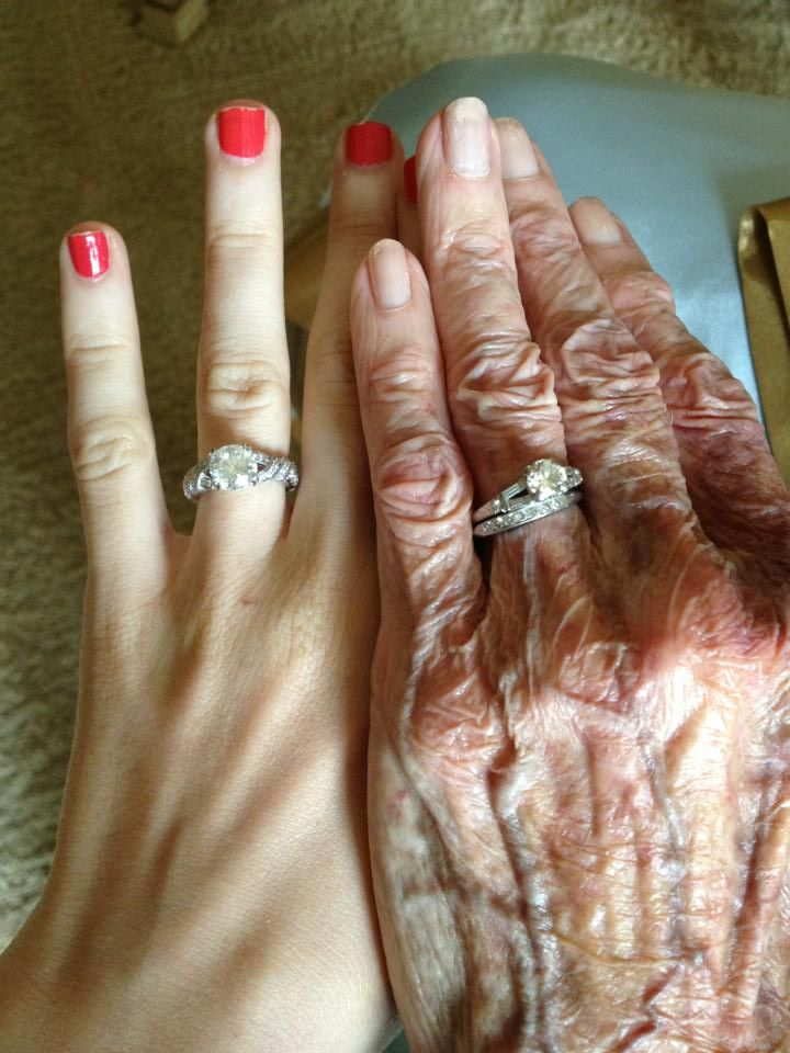 My Grandmother And My Engagement Rings 3 Engagement Bride Pictures My Engagement Ring