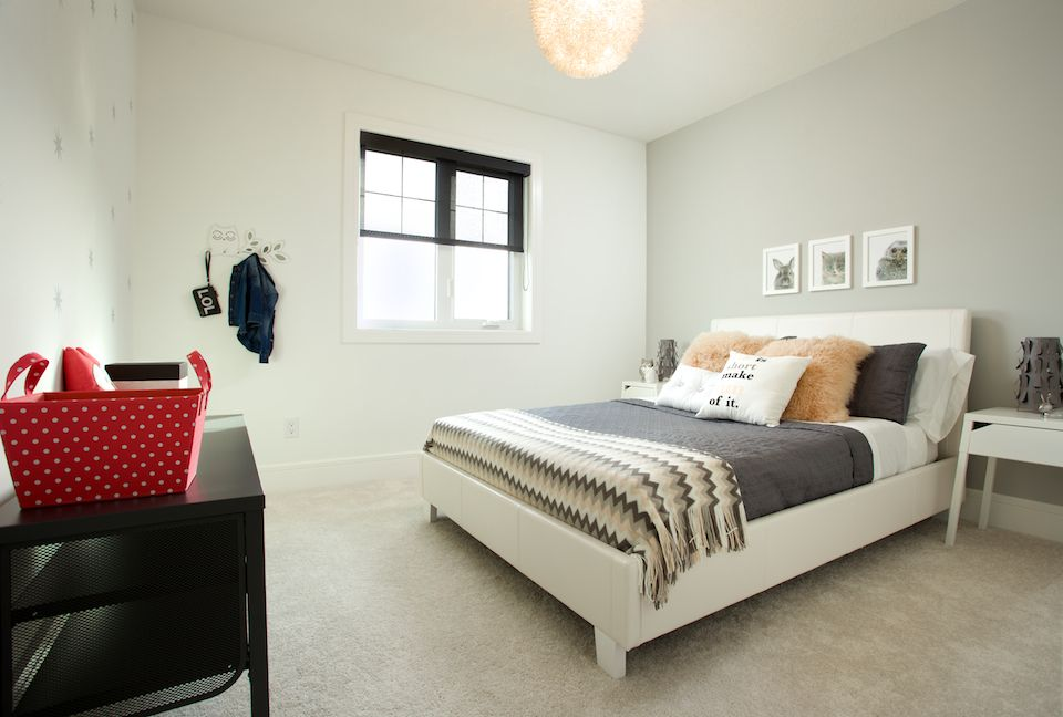 Builder Modern Showhome by Faria Interior Design.  Girl's bedroom.