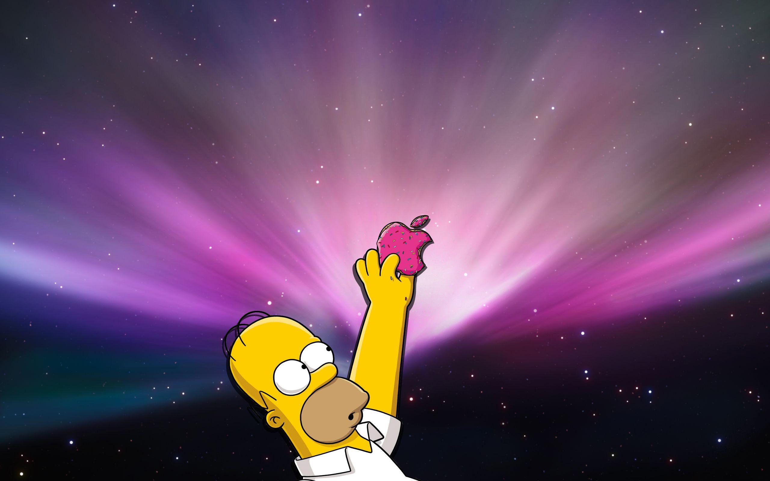 Homer Apple Simpsons WallPaper HD - http://imashon.com/w/