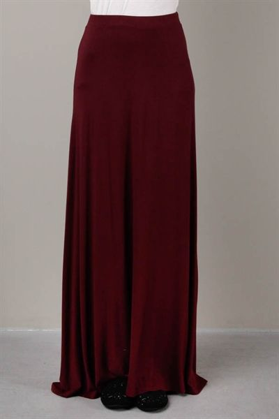 WANT Burgundy Maxi Skirt: This one is on my wish list to round out ...