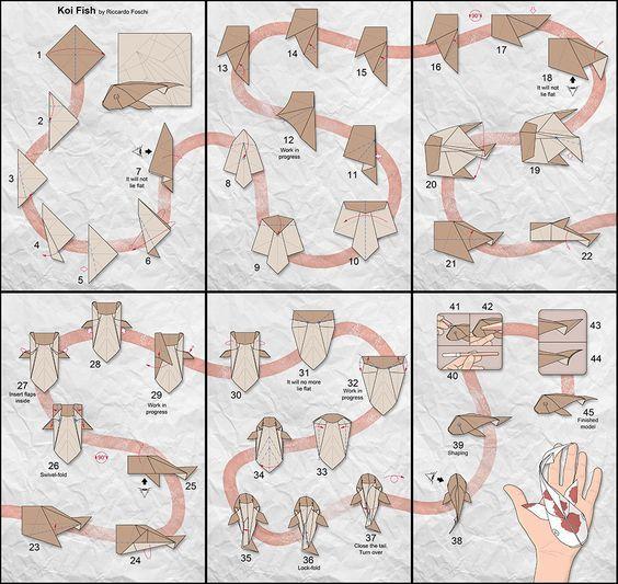 Origami Koi Diagrams Diy Enthusiasts Wiring Diagrams