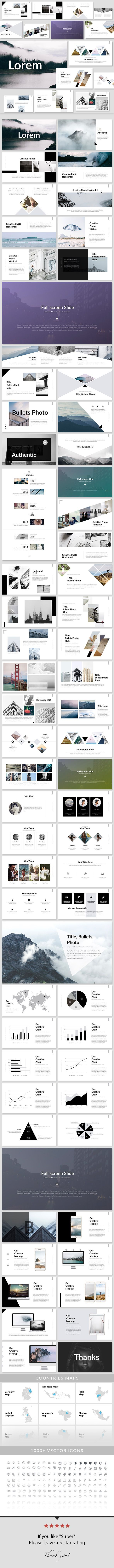 Business infographic : Lorem Keynote Presentation Template Creative ...