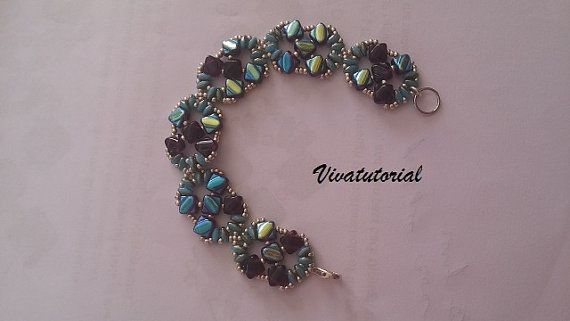 Tutorial Vermont Bracelet by Vivatutorial on Etsy