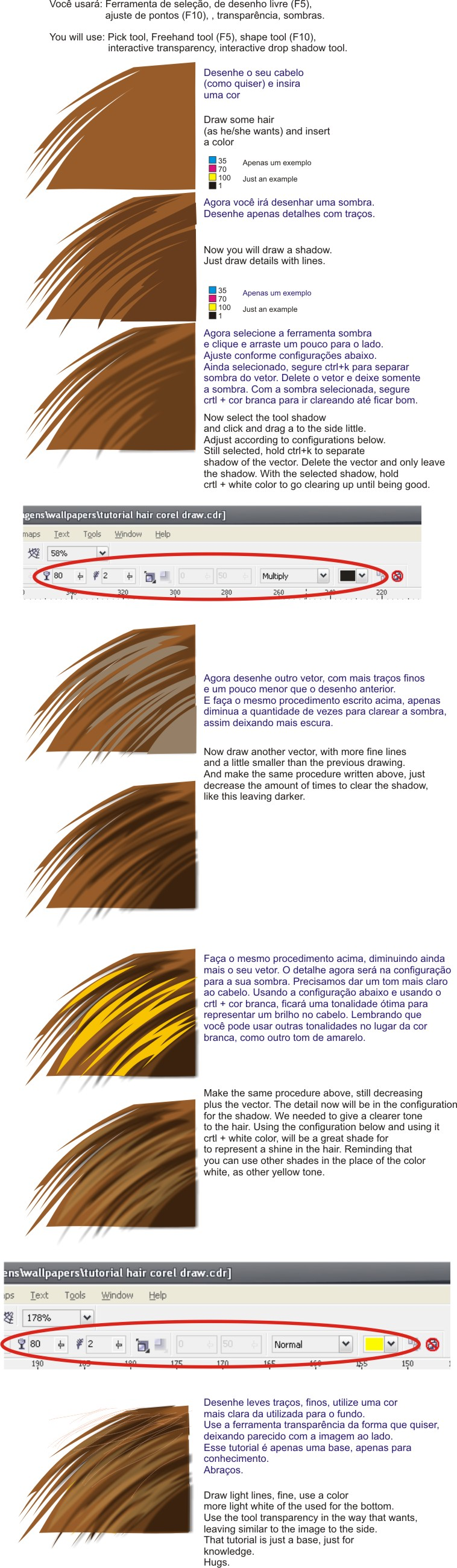 Coreldraw color palette free download - Hair Tutorial On Corel Draw X3 By Alzir