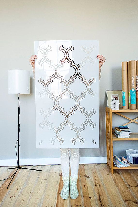 Moroccan Double Wall stencil pattern, large Moroccan Stencil and ...