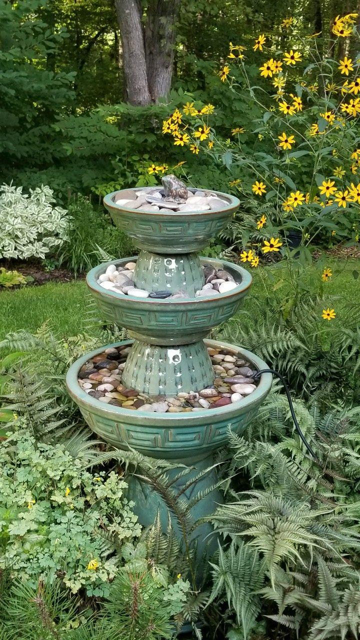 Diy garden fountain six pots from the job lot store