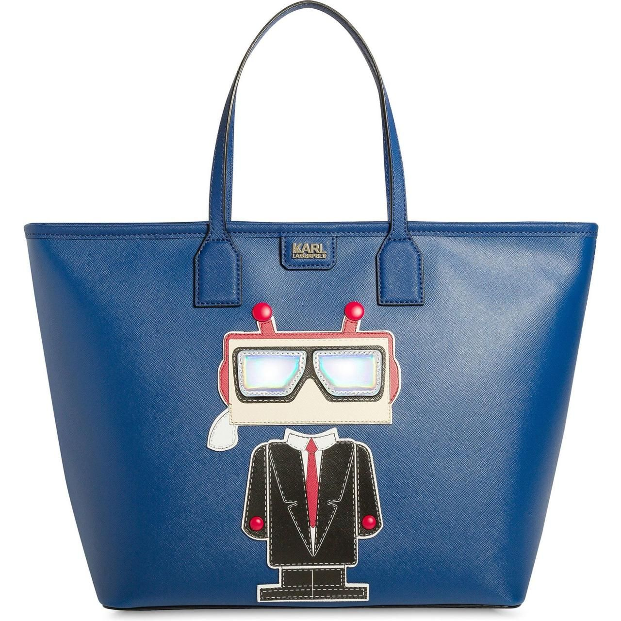 Karl Lagerfeld Robot Shopper in Ink Blue as seen on Kendall Jenner