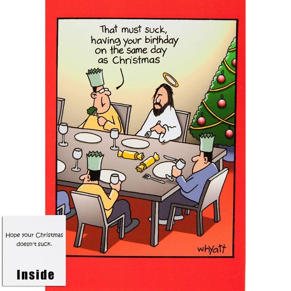Birthday Greeting Suck Christmas Card   Fall into Winter   Pinterest ...