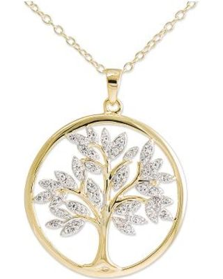 Fashion bloggers gabi gregg and nicolette mason just launched 14k gold over silver crystal tree of life pendant necklace aloadofball Choice Image
