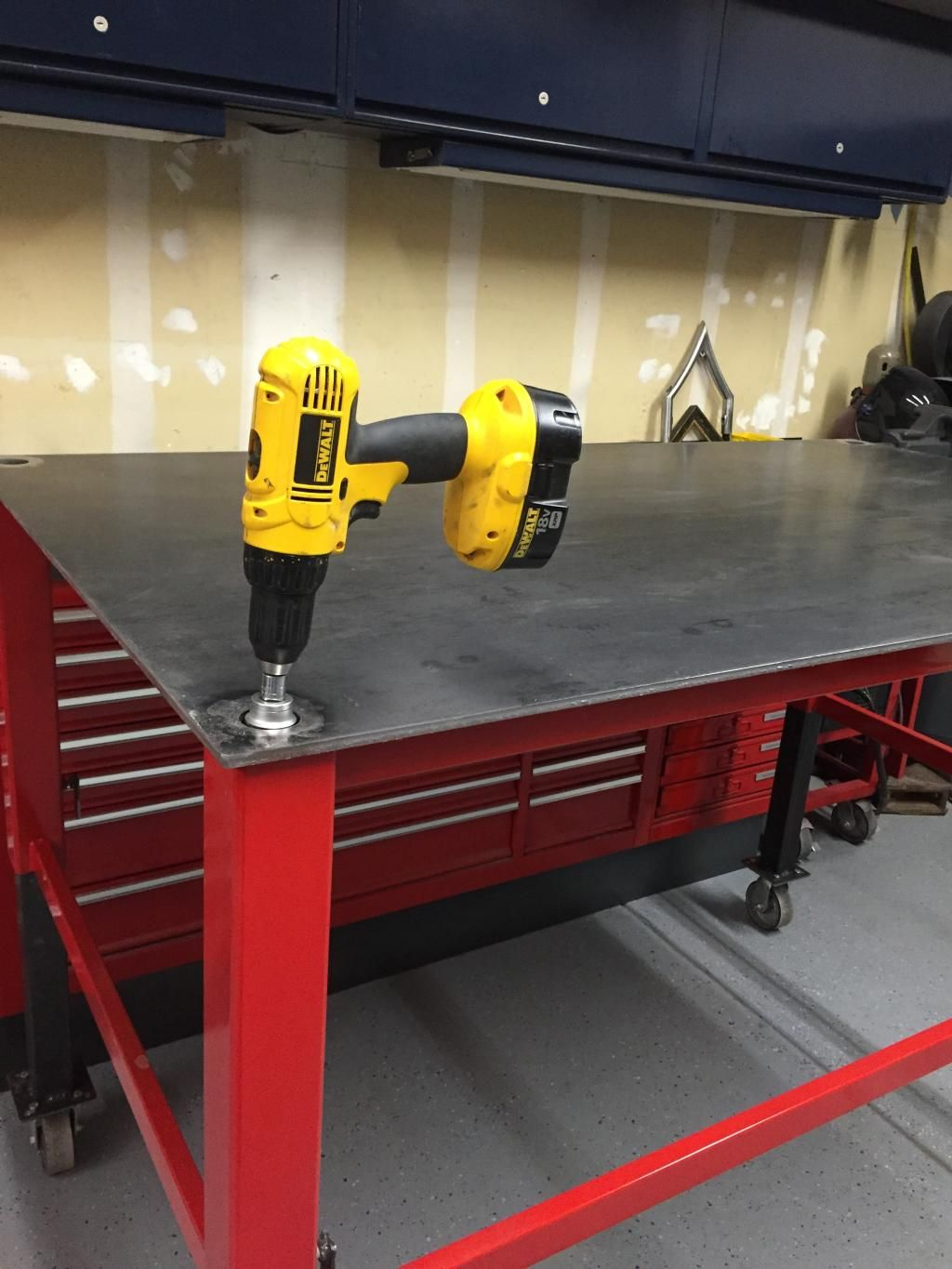 Charming Adjustable Welding/shop Table   The Garage Journal Board