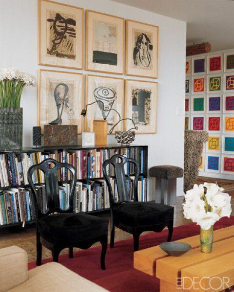 Living Room-Eclectic me gusta para organizar discos en la sala
