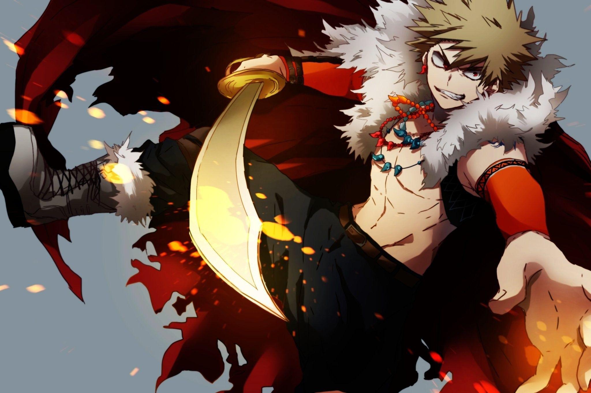Bakugou Katsuki Boku No Hero Academia Bnha Mha Fantasy Au Hero Anime Wallpaper My Hero