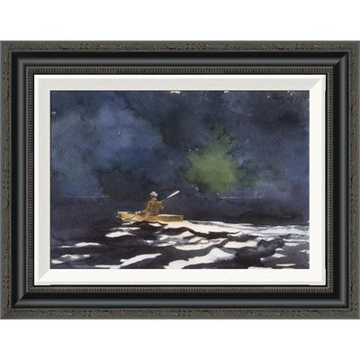 Global Gallery 'Paddling At Dusk' by Winslow Homer Framed Painting Print