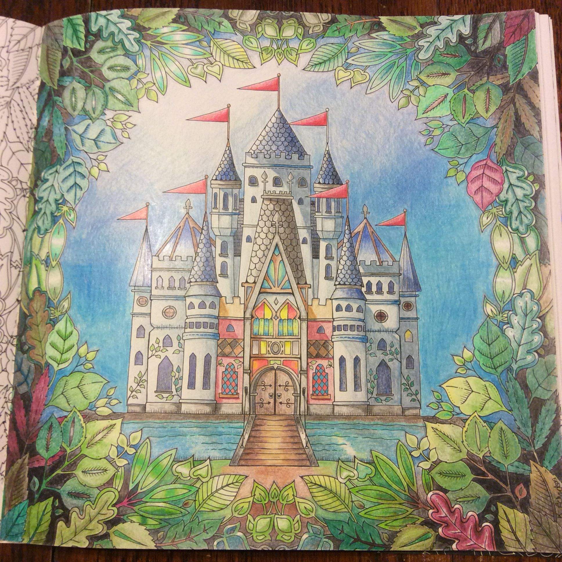Enchanted Forest By Johanna Basford Colored By K Richardson Kt Mac32 Forest Coloring Book Enchanted Forest Coloring Book Enchanted Forest Coloring