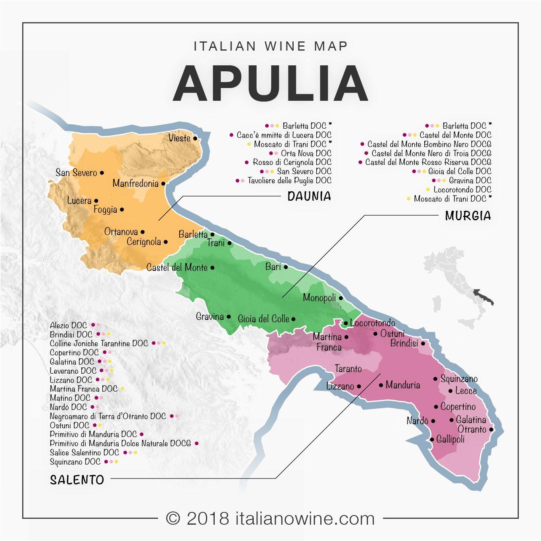 Cartina Vini Puglia.Puglia Enologica En Oenological Apulia Castel Del Monte Apulien In Vino Veritas
