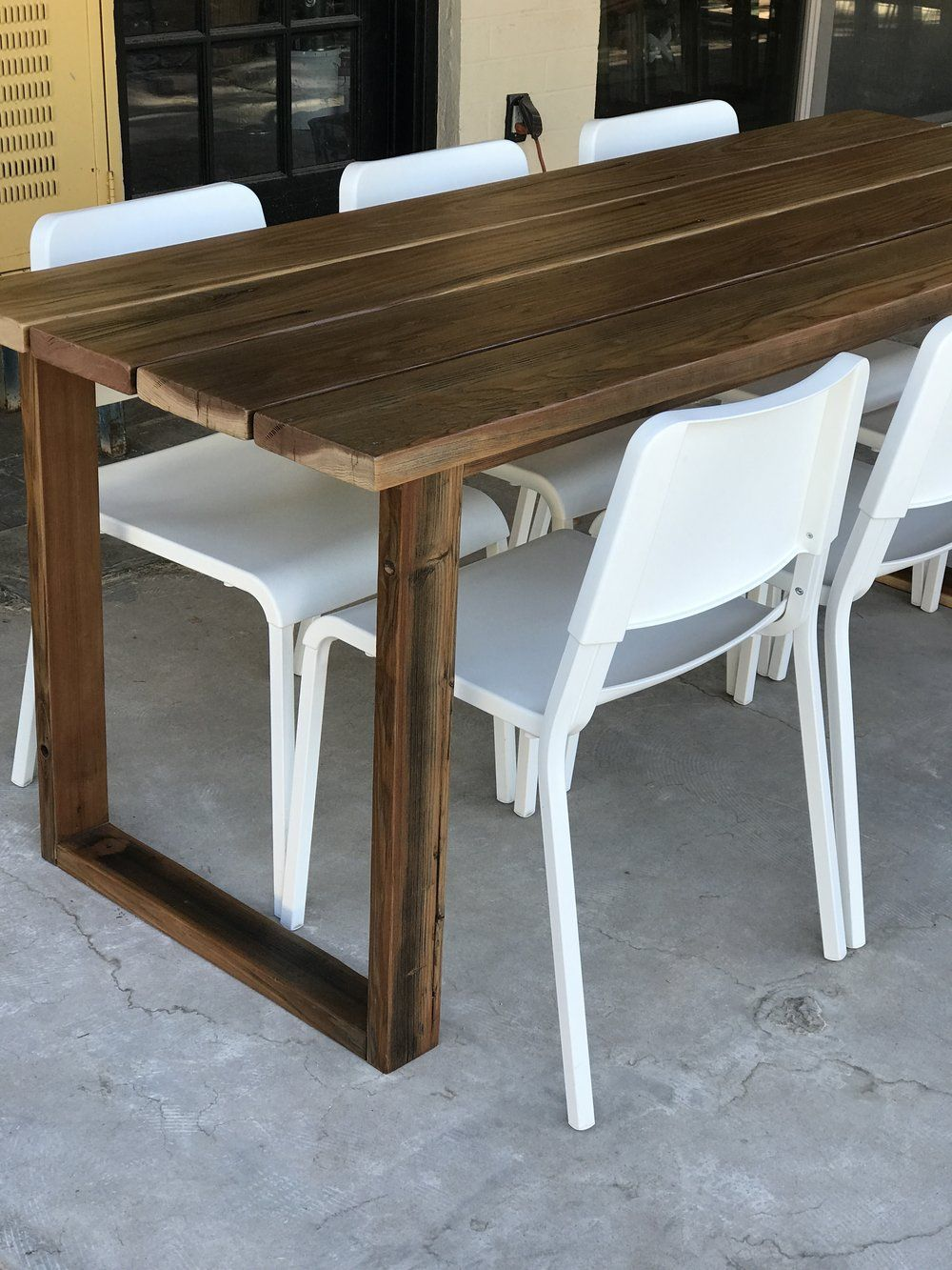 diy simple outdoor dining table — the awesome orange  diy