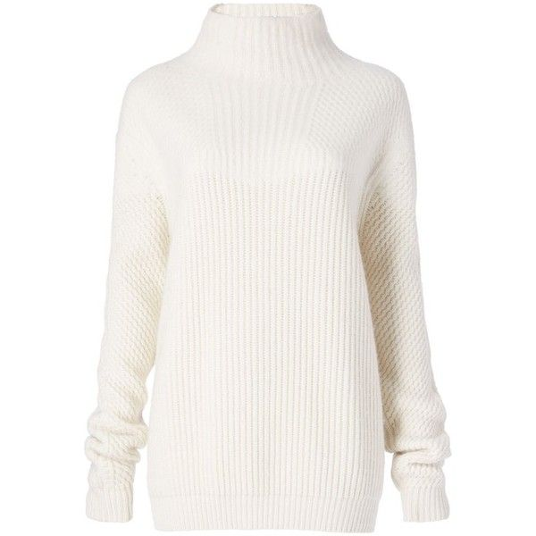 6ab61965e11d14 Diane von Furstenberg Jayleen Turtleneck Wool Sweater (40430 RSD) ❤ liked  on Polyvore featuring tops