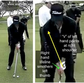 Golf Swing Tip Use A Proper Right Hand Grip To Improve Your Swing Like Adam Scott Golf Tip Reviews Golf Tips Golf Tips For Beginners Golf Swing Golf Tips