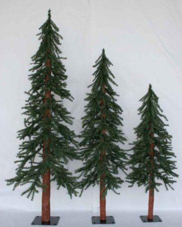 Amazon.com: Set of 3 Alpine Artificial Downswept Slim Christmas ...