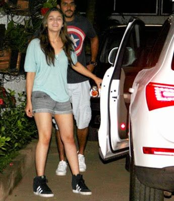 Alia Bhatt in a no make up look , wearing Adidas Wedge Sneakers
